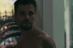 Gabriel (Bruno Gagliasso) em O Sétimo Guardião (Foto: Reprodução/Globo)