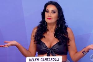 Helen Ganzarolli foi envolvida em mentira de Luiz Bacci no Programa Silvio Santos (Foto: Reprodução)