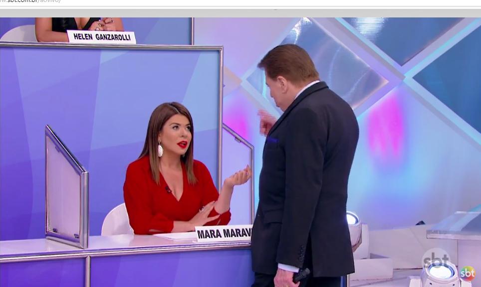 Mara Maravilha e Silvio Santos (Foto: Reprodução)