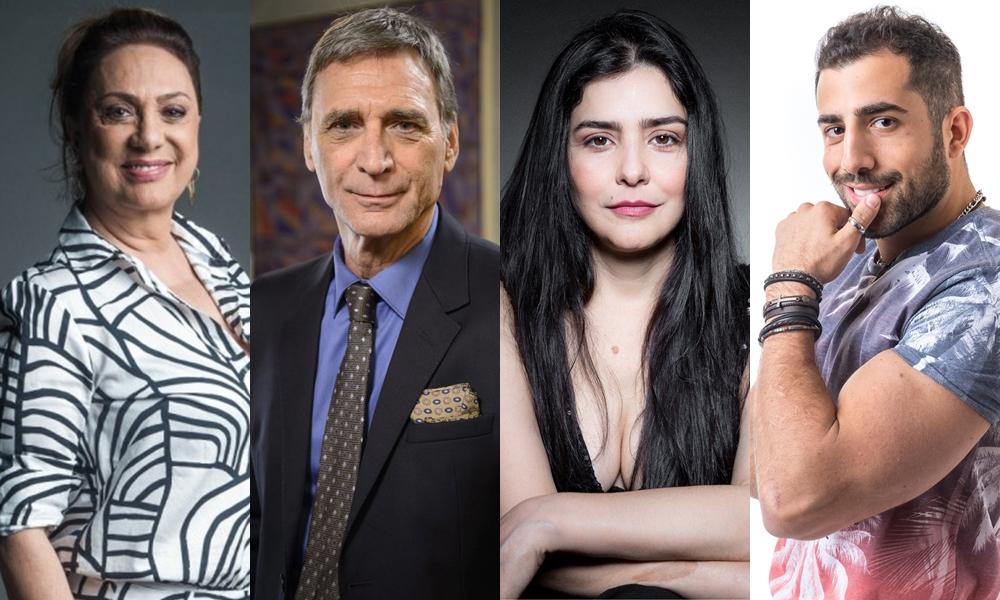Parte do elenco da novela Órfãos da Terra, a próxima das seis da Globo. (Foto: Reprodução)