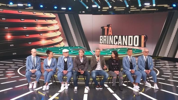 """Otaviano Costa na coletiva do seu programa """"Tá Brincando"""", que estreia em janeiro na Globo (Imagem: Ana Cora Lima/UOL)"""