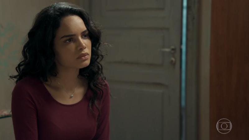 Paulina (Carol Macedo) em O Tempo Não Para (Foto: Reprodução/Globo)