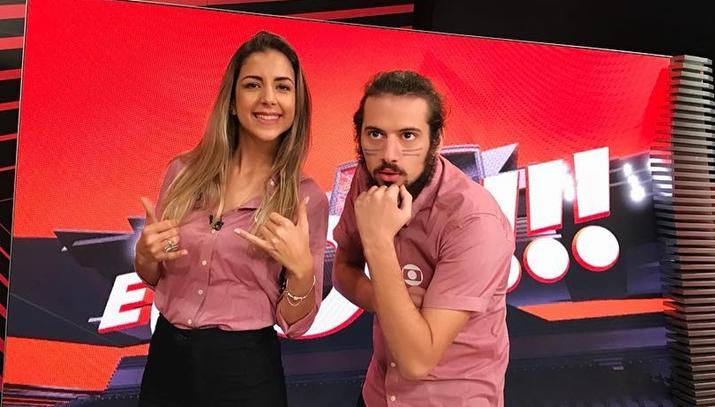É Gol, comandado por Domitila Becker e Lucas Strabko, pode sair do ar no SporTV. (Foto: Reprodução/Instagram)