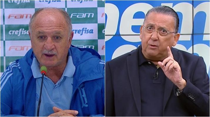 Relação entre Felipão e Galvão Bueno não é das melhores. (Foto: Montagem/Reprodução)