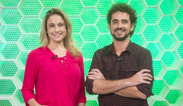 Fernanda Gentil e Felipe Andreoli comandam o Esporte Espetacular na Globo. (Foto: Divulgação/TV Globo)