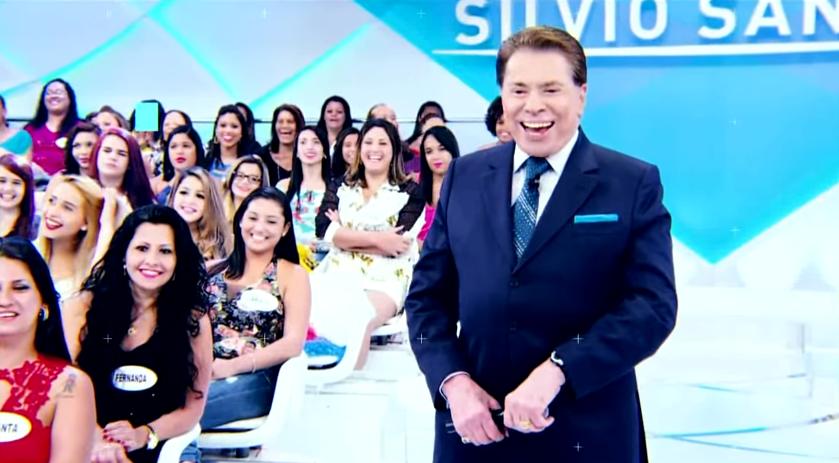 O apresentador Silvio Santos no SBT. (Foto: Reprodução)