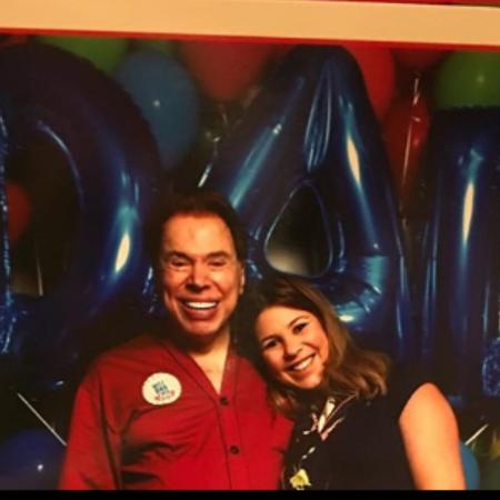 Silvio Santos com Daniela Beyruti (Foto: Reprodução/Instagram)