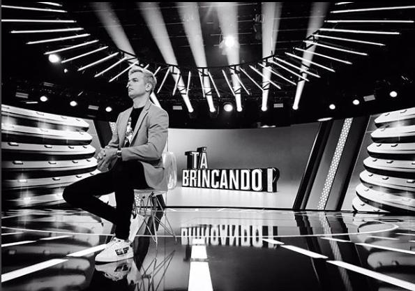 Otaviano no programa Tá Brincando, novidade da Globo. (Foto: Reprodução)