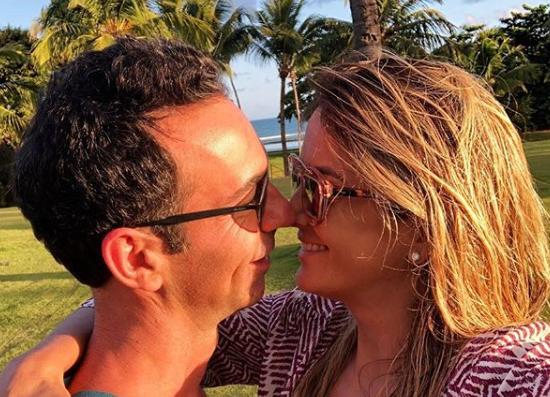 A apresentadora Ticiane Pinheiro e o jornalista César Tralli. (Foto: Reprodução/Instagram)