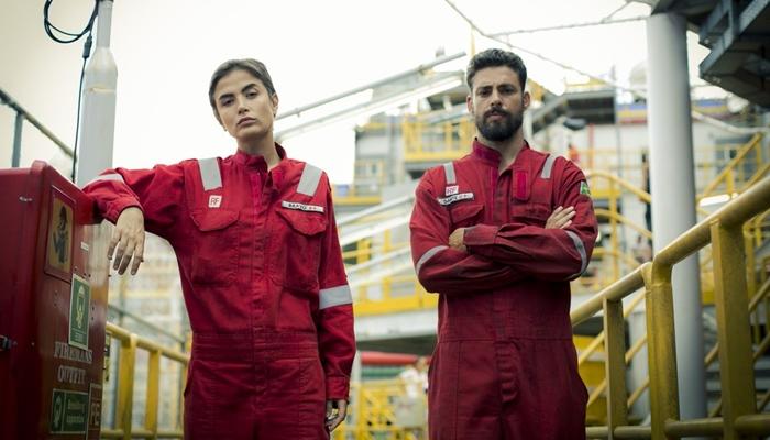 Maria Casadevall e Cauã Reymond na série Ilha de Ferro (Foto: Raphael Dias/Gshow)