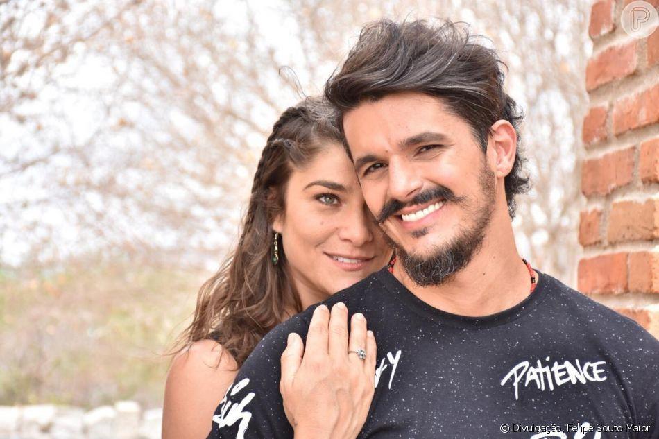 Priscila Fantin e o noivo (Foto: Divulgação)