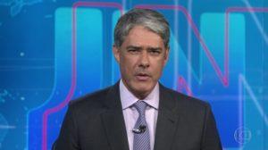 William Bonner no comando do Jornal Nacional (Foto: Reprodução/Globo)