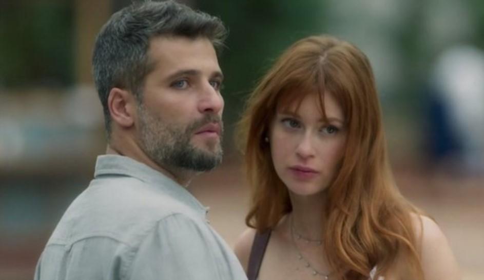 Gabriel e Luz são os protagonistas de O Sétimo Guardião (Foto: Divulgação)
