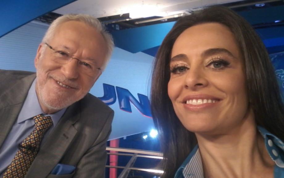 Alexandre Garcia ao lado de Carla Vilhena (Foto: Reprodução/Redes Sociais)