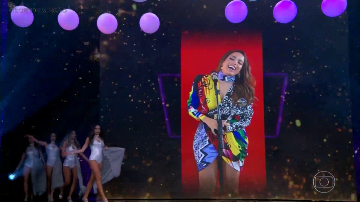 Anitta was the best singer of the Domingão Trophy (Photo: Reproduction)
