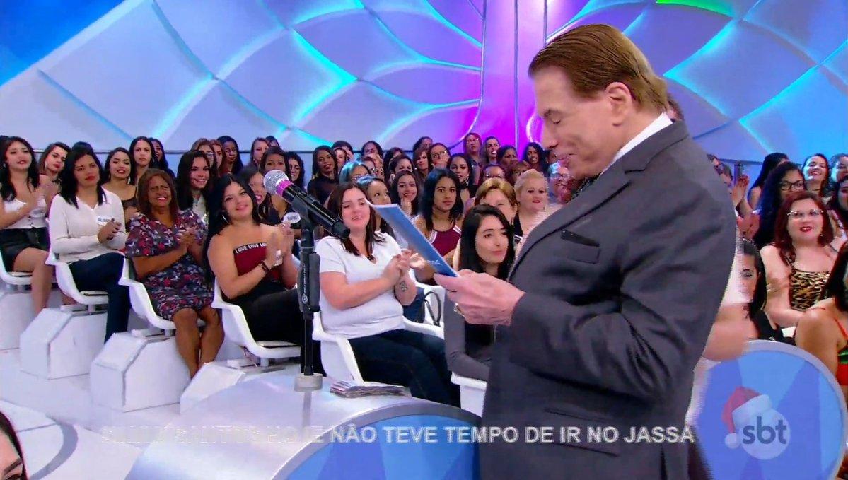 Silvio Santos no palco de seu programa no SBT (Foto: Reprodução)