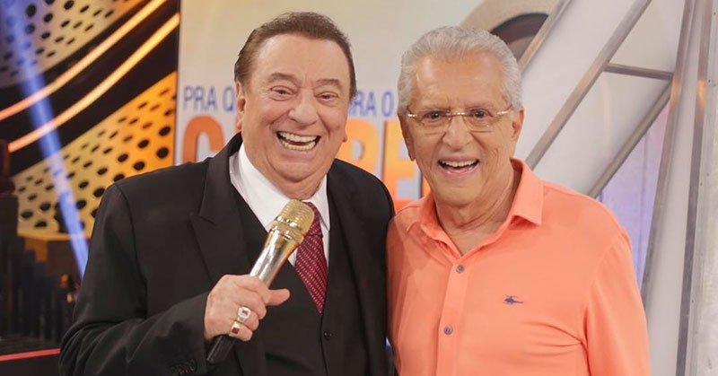 Raul Gil e Carlos Alberto de Nóbrega (Foto: Divulgação/SBT)