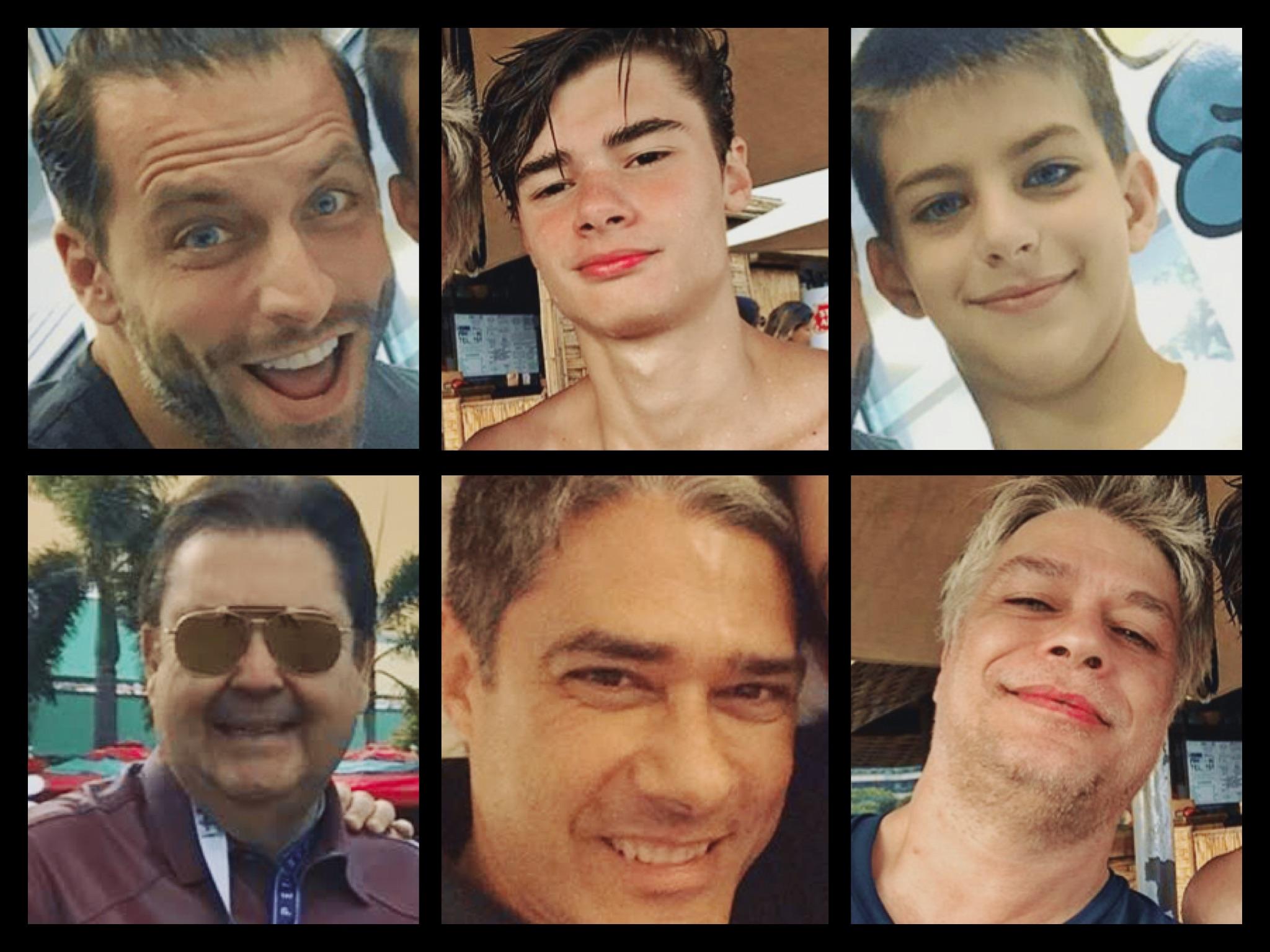 Pais famosos com seus filhos parecidos.