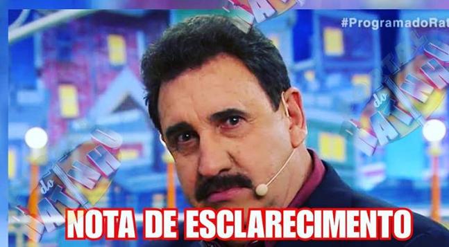 Ratinho divulga nota de esclarecimento e acaba com fake news espalhada 36781f69b3