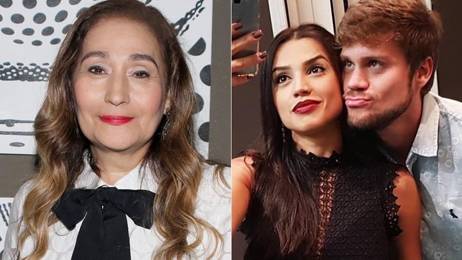 Sonia Abrão, Paula Amorim e Breno Simões