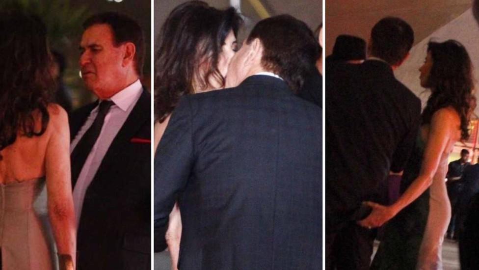 Amaury Jr e Claudia Alencar aos beijos (Foto: Divulgação)