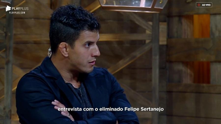 Felipe sertanejo foi eliminado de A Fazenda (Foto: Reprodução/PlayPlus)