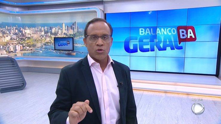 José Eduardo Bocão no Balanço Geral Bahia, líder de ibope (Foto: Reprodução/Record)