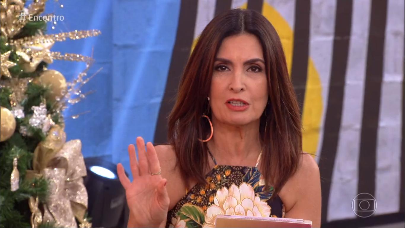 Fátima Bernardes na Globo (Foto: Reprodução)