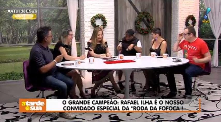 Rafael Ilha e Sonia Abrão (Foto: Reprodução)