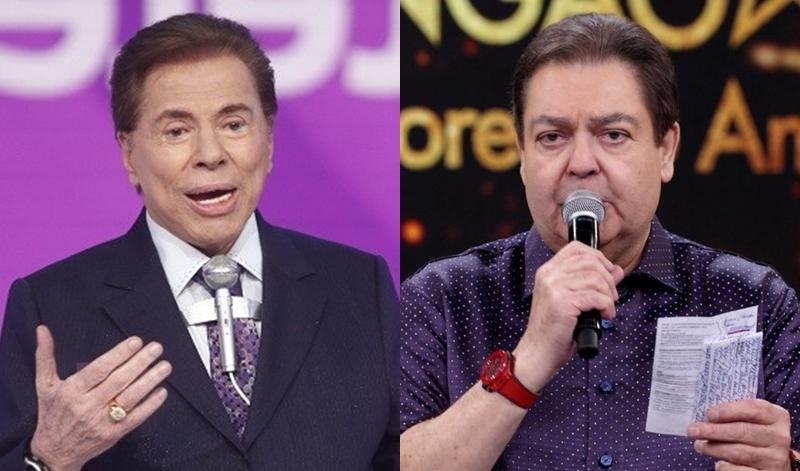 Silvio Santos e Faustão (Foto: Reprodução)