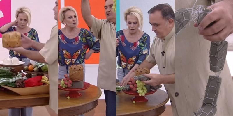 Ana Maria Braga recebeu especialista que derrapou na higiene na Globo (Foto: Reprodução)