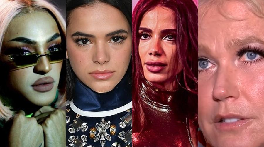 Pabllo Vittar, Bruna Marquezine, Anitta e Xuxa (Foto: Reprodução)