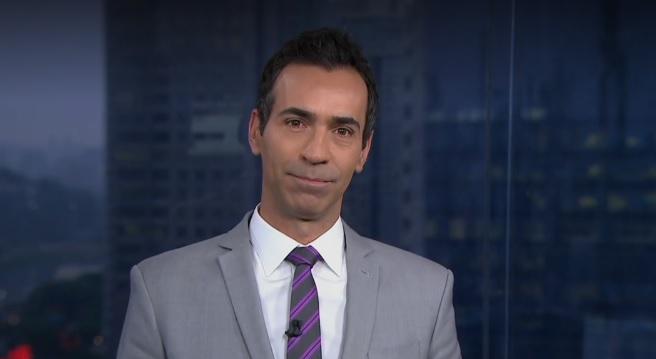 O jornalista e apresentador do SPTV1, da Globo, César Tralli (Foto: Reprodução)