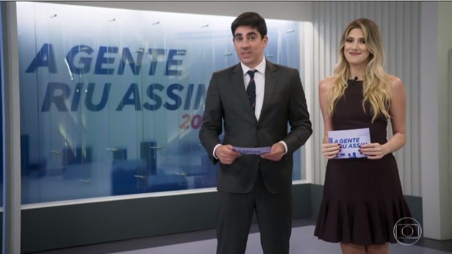 Dani Calabresa e Marcelo Adnet fazem piada com a própria separação Imagem: Reprodução/TV Globo