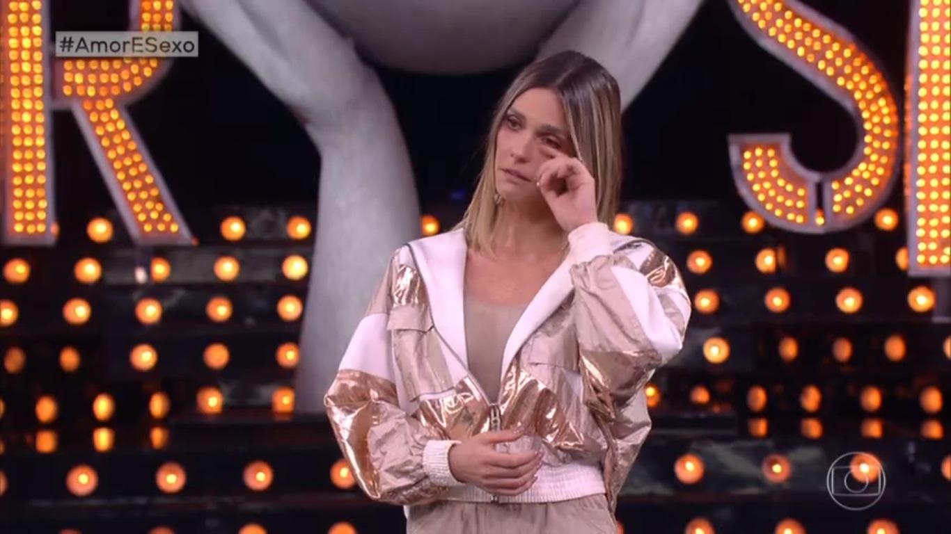 Fernanda Lima emocionada no Amor e Sexo