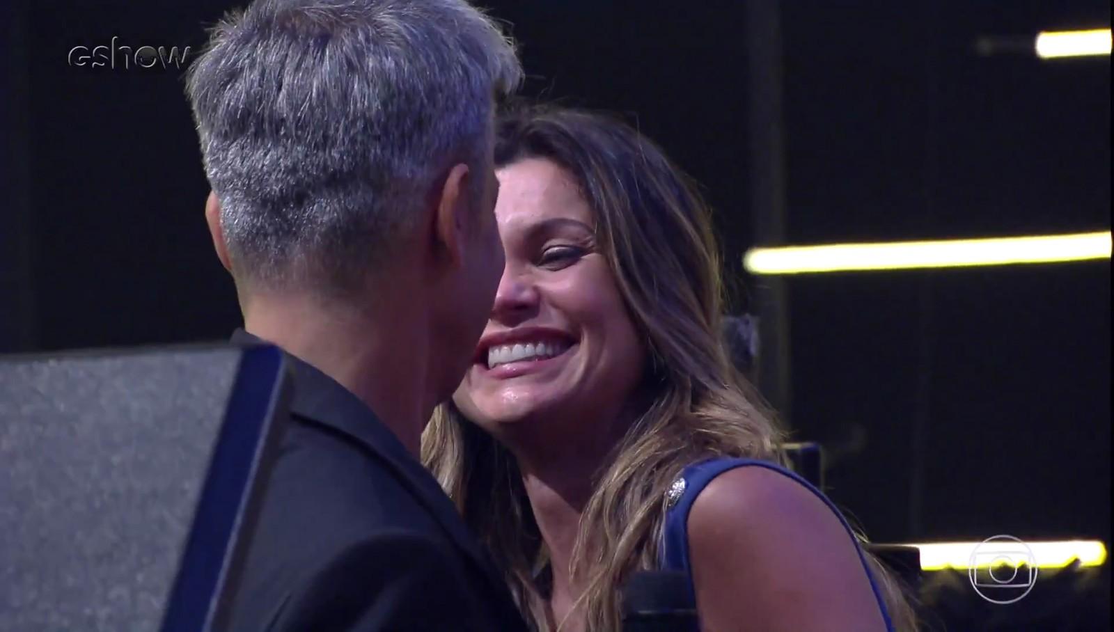 Flávia Alessandra e Otaviano Costa em gravação do Tá Brincando (Foto: Reprodução/Gshow)