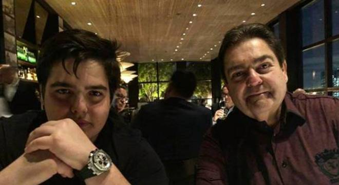 João e Fausto Silva (foto: Reprodução/Instagram)
