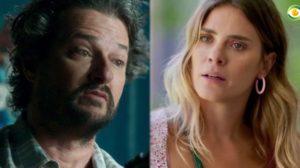 Eles são marido e mulher na novela O Sétimo Guardião (Foto: Montagem/TV Foco)