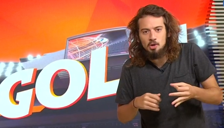 Apresentador Lucas Strabko, o Cartolouco, foi suspenso pela Globo. (Foto: Reprodução)