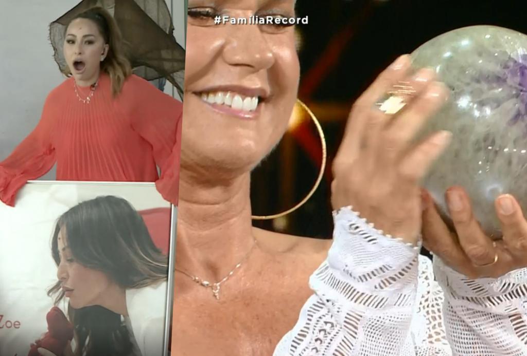 Xuxa ganhou uma pedra de Samara Felippo, enquanto Sabrina ganhou um quadro  dela com Zoe 8ed7ffe3c9
