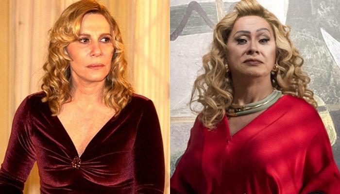 Renata Sorrah como Nazaré e Nany People como Marcos Paulo em O Sétimo Guardião (Fotos: Globo/João Miguel Júnior/Estevam Avellar)