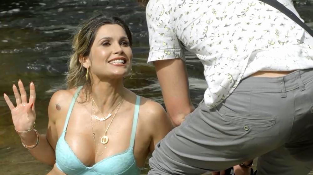 Flávia Alessandra como a Rita de Cássia em O Sétimo Guardião (Foto: TV GLobo)