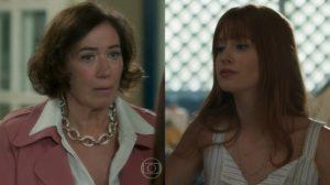 Valentina (Lília Cabral) e Luz (Marina Ruy Barbosa) em O Sétimo Guardião (Foto: Reprodução/Globo)