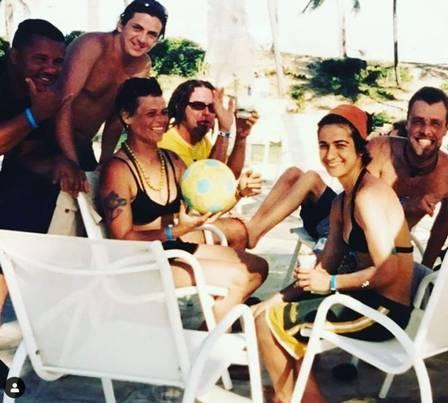 Lan Lanh, Cássia Eller e amigos (Foto: Reprodução/Instagram)