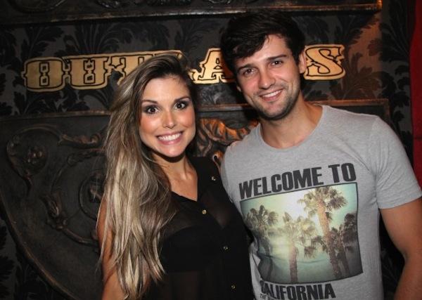 Flavia Vianna e o ex-BBB Fernando Justin