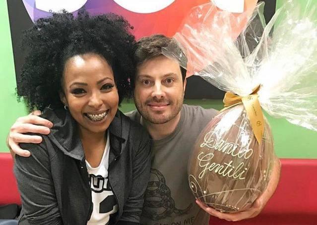 Danilo Gentili e Juliana (Foto: Divulgação)