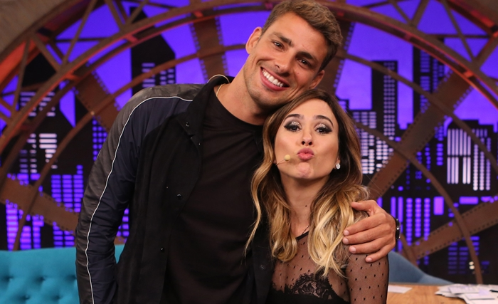 Cauã Reymond é o primeiro convidado de Tatá Werneck na estreia de Lady Night na Globo (Foto: Gianne Carvalho)