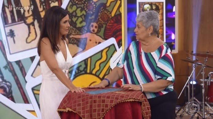 Fátima Bernardes no Encontro (Foto: Reprodução)