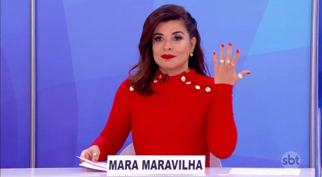 Mara Maravilha no Jogo dos Pontinhos (Foto: Divulgação/SBT)
