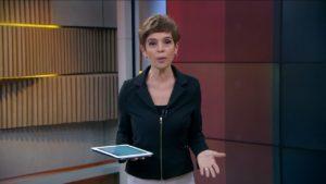 A jornalista Renata Lo Prete comanda o Jornal da Globo (Foto: Reprodução/Globo)